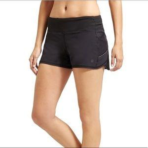 Athleta Ready Set Go Shorts Solid Black